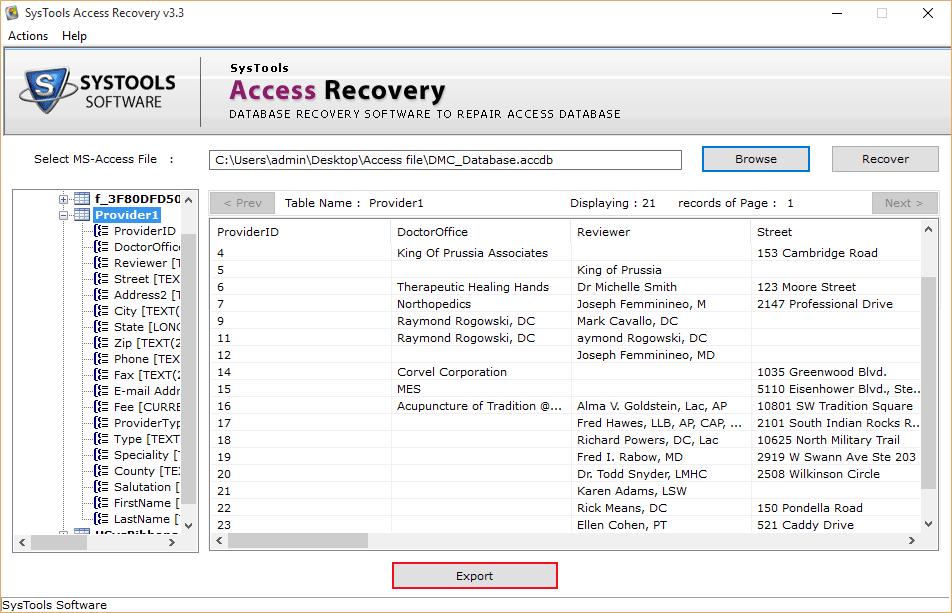Repair Crashed MS Access Recover Corrupt MDB ACCDB File