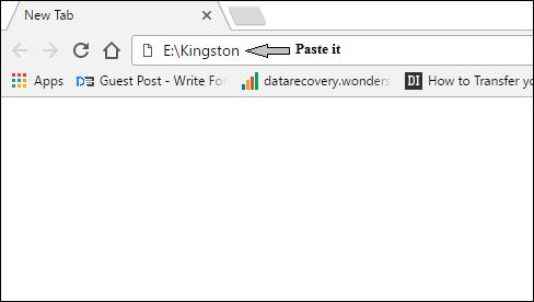 Chrome address