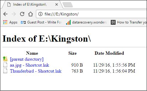 Chrome Index